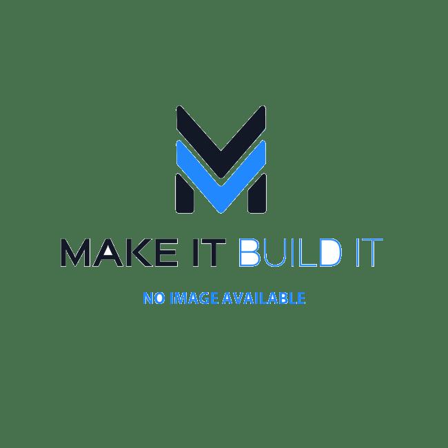 U6808-Schumacher Stagger Rib 1:8 Buggy Tyres - Silver - Pre Glued on White Wheels - 1 Pair